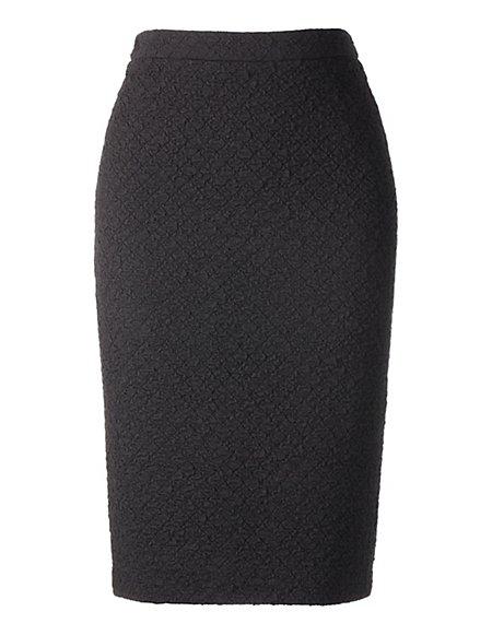Bild MADELEINE  Pencilskirt in Cloqué-Struktur Damen schwarz