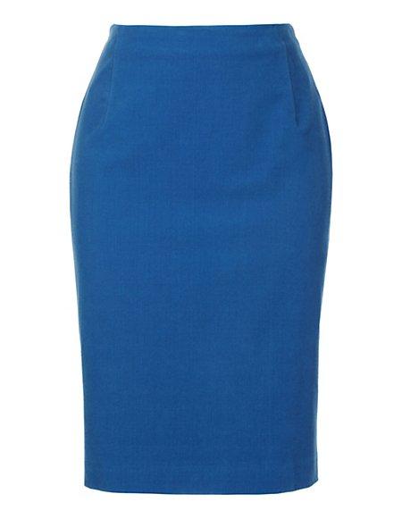 Bild MADELEINE  Schmaler, knielanger Rock aus Sportsamt Damen royal / blau