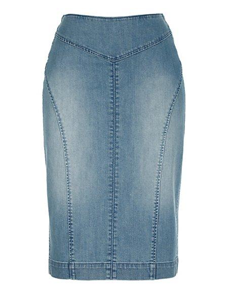 Bild MADELEINE  Jeans Bleistiftrock Damen bleached / blau