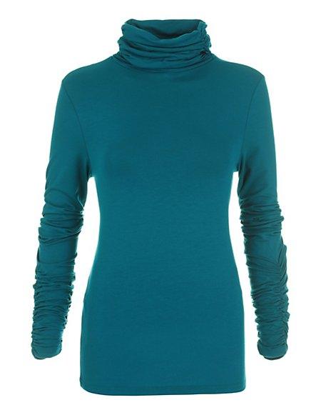 Bild MADELEINE  Rollkragenshirt Damen petrol / grün