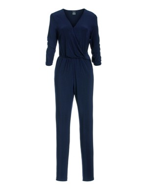 Wrap-front jumpsuit