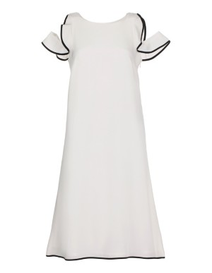 Sleeveless dress, pure silk