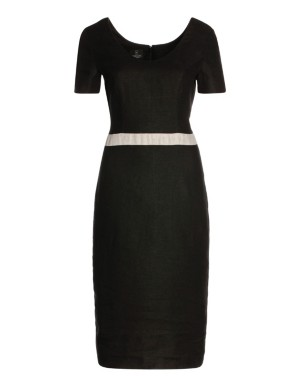 Linen sheath dress