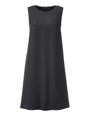 Sleeveless tunic dress in contrasting fabrics