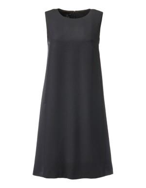 Sleeveless tunic dress in contrasting fabrics