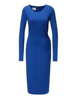 Sheath dress with draping