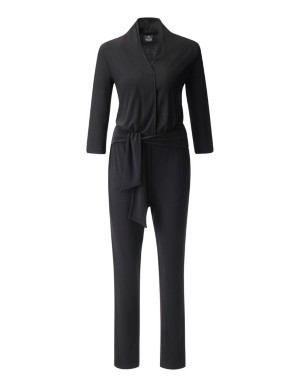 Jumpsuit with 3/4-length sleeves and pagoda shoulders