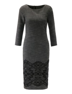 Lace hem sheath dress