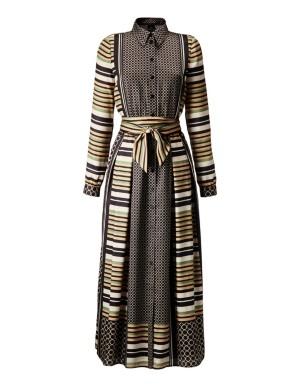 Full swing dress with geometric print