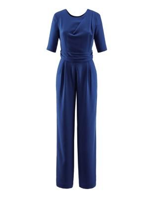 Wide-leg crepe jumpsuit