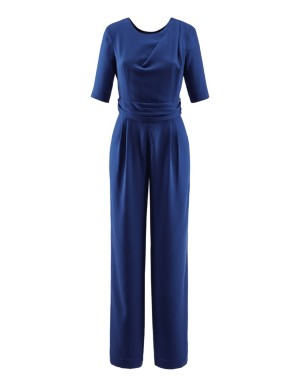 Wide-leg crepe jumpsuit