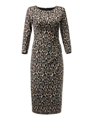 Jersey bodycon dress with side gathers