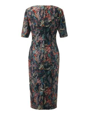 Stretch fabric sheath dress