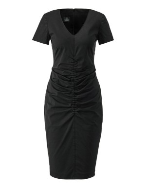 Sheath dress with front gathers