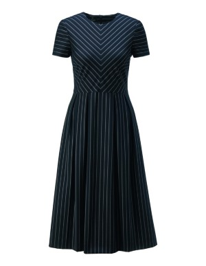 Dress with flared, pleated skirt