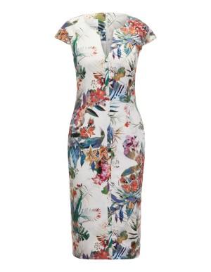 Exotic floral print dress