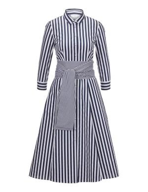 Striped shirt-style dress