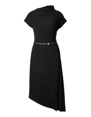 Asymmetrical flared dress