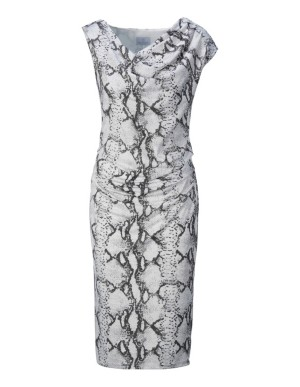 Snakeskin print sheath dress