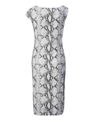 Snakeskin print sheath dress
