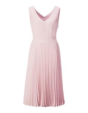 Flared plisse-pleated dress