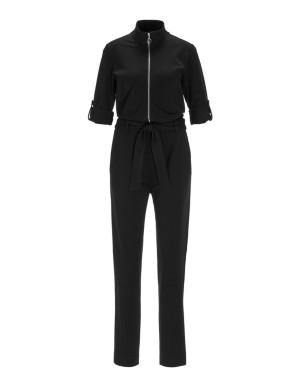 Jumpsuit with tie belt