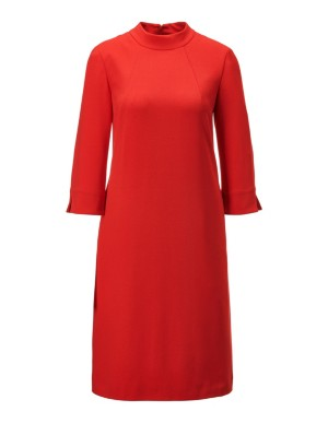 A-shaped dress with stand-up collar