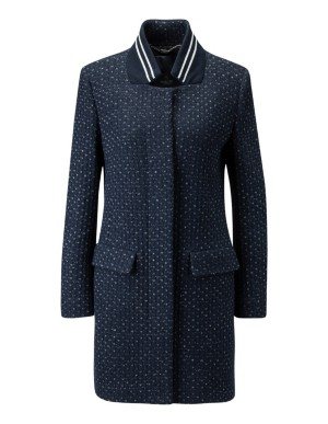 Short knitted-look coat