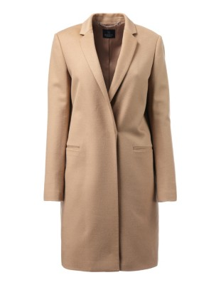 Short soft wool coat