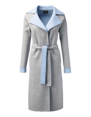 Two-tone wool coat