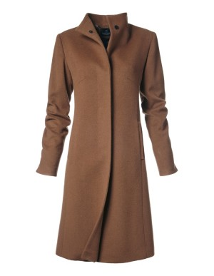 Lined cashmere coat