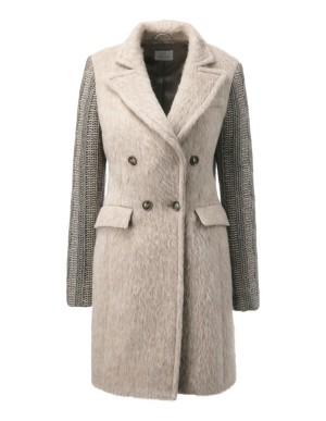 Contrasting short coat