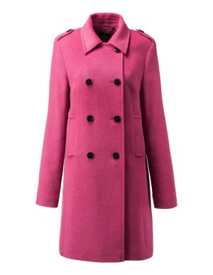 Double-breasted longline pea coat