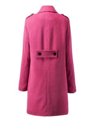 Double-breasted longline pea coat