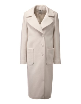 Long coat with oversized collar and lapels