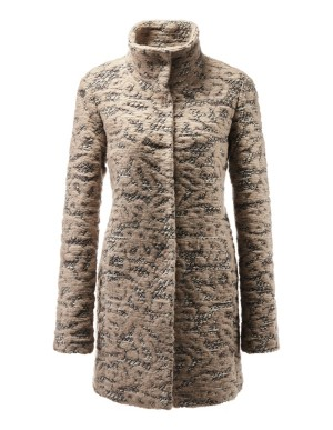 Novelty jacquard coat