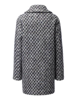 Textured coat with lurex threads