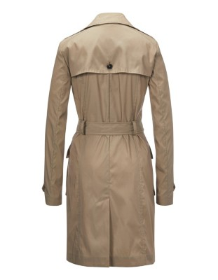 Moderately tailored trench coat