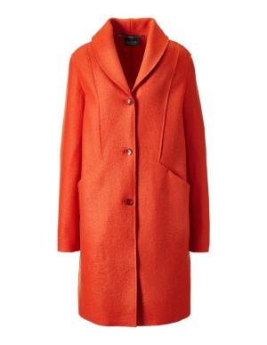 Milled wool coat