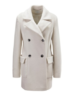 Double-breasted alpaca-blend coat