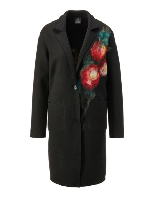 Embroidered woollen coat