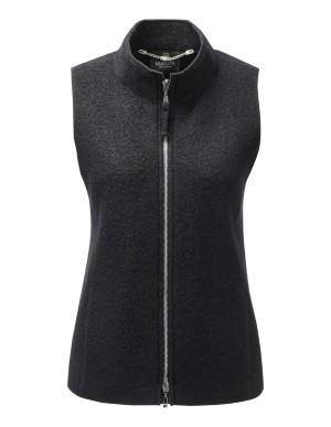 Wool waistcoat with striking two-way zip