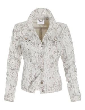 Snakeskin print denim jacket