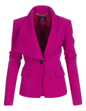 Wide lapelled wool blazer