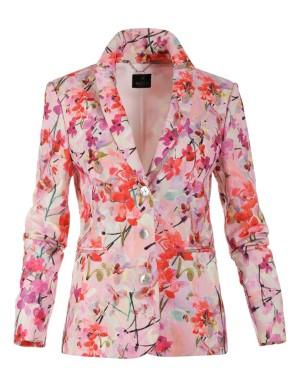 Bright floral blazer