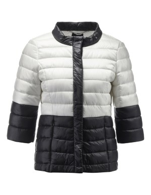 Two-tone quilted jacket