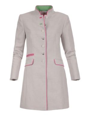 Natural fabric frock coat