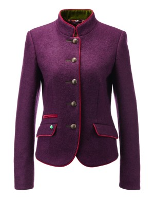 Wool blazer with round buttons and contrasting edging