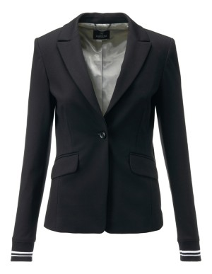 Classic blazer with knitted cuffs