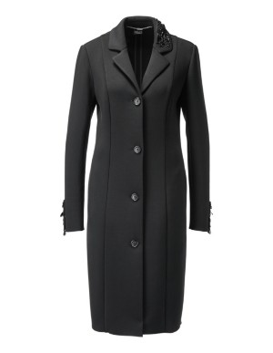 Comfortable frock coat with removable embellishments